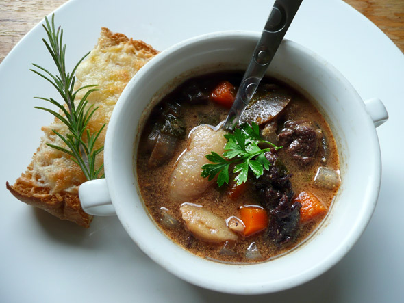 Mahogany Stew with Red Wine and Purple Potatoes