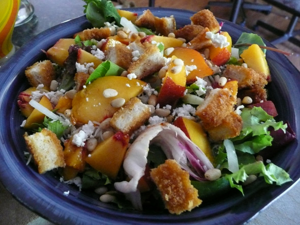 Peach & Chicken Salad