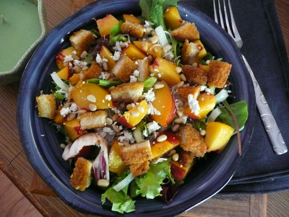 Peach & Chicken Salad with Oriental Dressing
