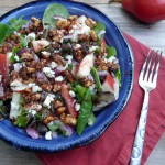 Pear Salad with Sweet & Spicy Nuts