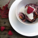 Waffle-Berry Chocolate Chip Pudding