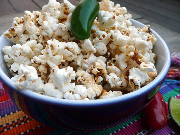 Chile Lime Spiced Popcorn