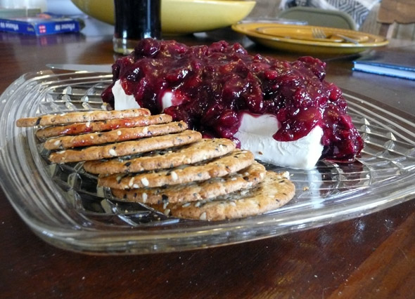 Cream Cheese and Cranberries with Crackers