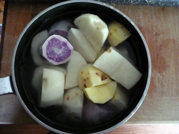 Potatoes, ready to boil