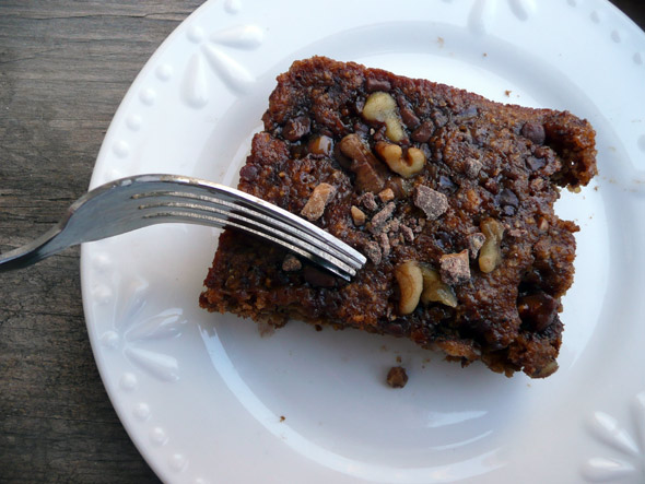 Pumpkin Toffee Oat Cake with Protein