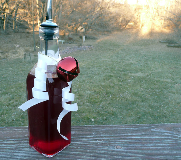 Make your own Cranberry Raspberry Vinegar