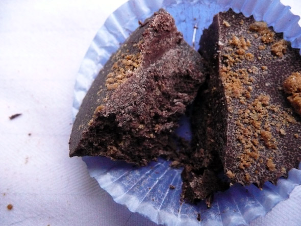 Ginger Snap cookie chocolate cup