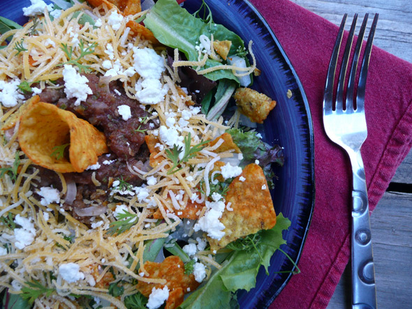 Vegetarian Taco Salad with Goat Cheese