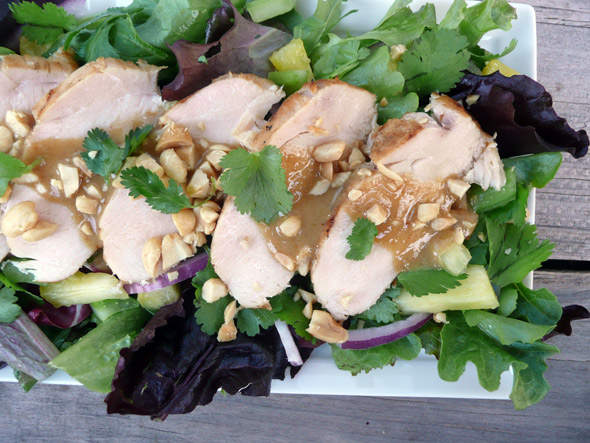 Thai Style Barbecued Chicken Salad
