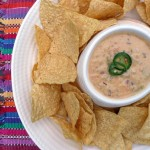 Chile con Queso y Frijoles (Mexican Cheese Dip with Beans)