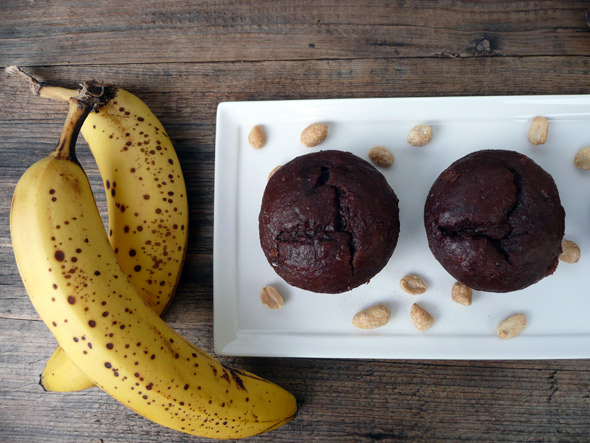 Elvis' Favorite Muffins (Peanut Butter, Chocolate and Banana, with a PB filling)