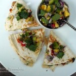 Next Generation Fish & White Bean Quesadillas with Pineapple Salsa