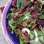 Cherry Beef-Salad with Toasted Pecans & a Cherry Malbec Vinaigrette