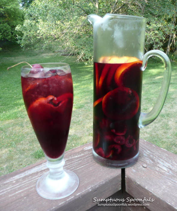 Red Cherry Rosemary Sangria