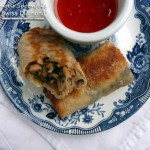 Asian Chicken, Shrimp & Kale Egg Rolls