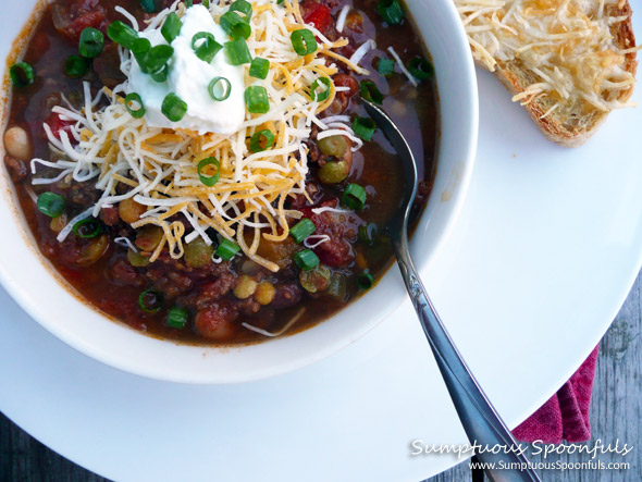 Fire Roasted 7-Bean Crockpot Chili