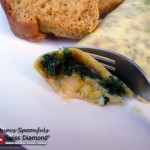 Havarti Cheddar Kale Omelet with Bacon