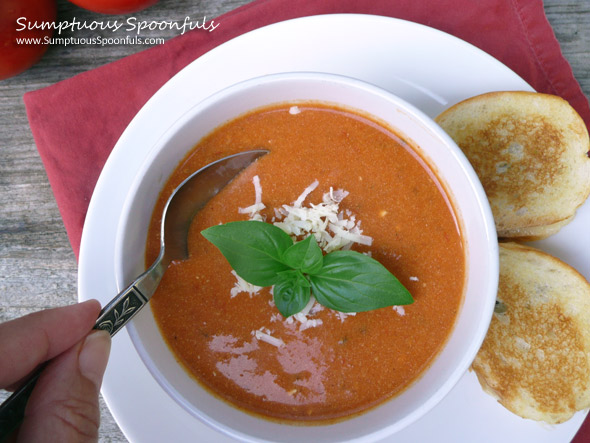 Herbed Tomato White Cheddar Soup