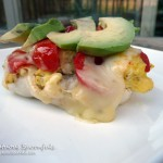 Tomato Avocado Pepperjack Breakfast Sandwich ~ SumptuousSpoonfuls.com #egg #breakfast #avocado #recipe