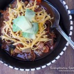 Turkey Enchilada Soup ~ from www.SumptuousSpoonfuls.com #turkey #soup #recipe
