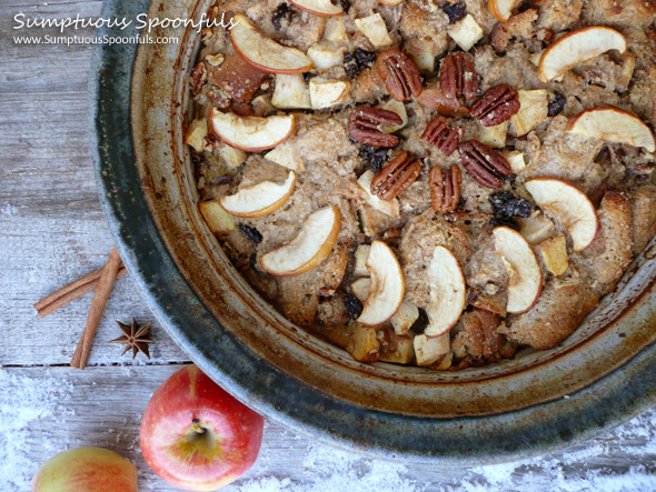 Apple Cinnamon Chai Bread Pudding