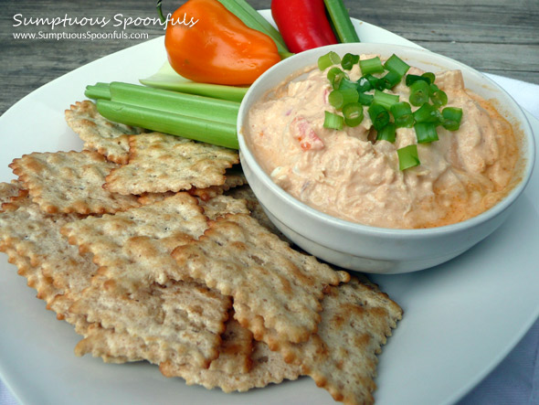 "Buffalo Chicken ""Devil"" Dip (Lightened Up)"