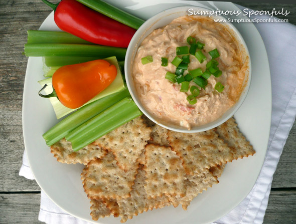 "Buffalo Chicken ""Devil"" Dip - Lightened Up"