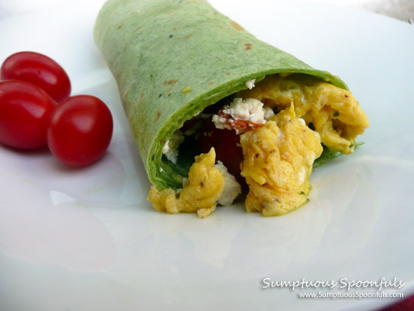 Tomato, Egg & Cilantro Pesto Breakfast Wrap