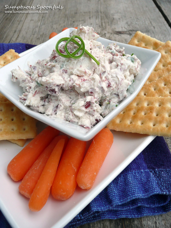 Corned Beef & Chevre Cheese Spread ~ Sumptuous Spoonfuls #cheese #recipe