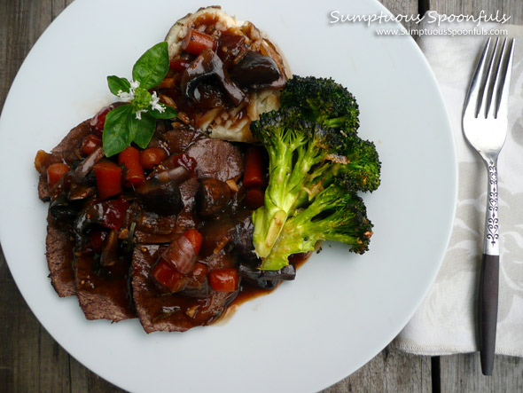 Lucky Bucket Pot Roast with Baby Bella Mushrooms