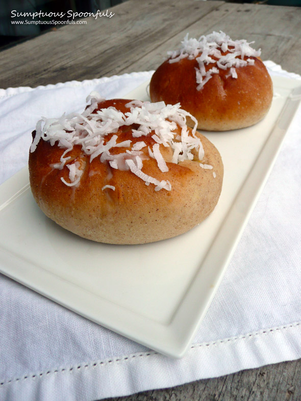 "Skolebrød {Norwegian ""School Buns""} ~ Sumptuous Spoonfuls #sweet #buns #recipe"
