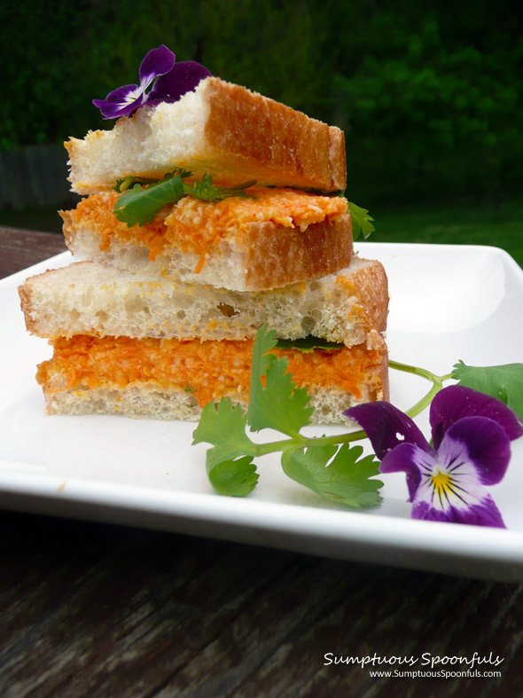 Curried Carrot Cheddar Tea Sandwiches