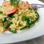 Shrimp, Asiago & Asparagus Risotto with Fresh Dill ~ Sumptuous Spoonfuls #risotto #recipe