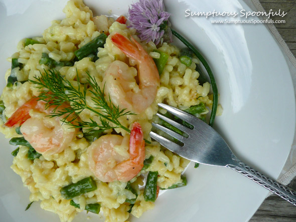 Shrimp, Asiago & Asparagus Risotto