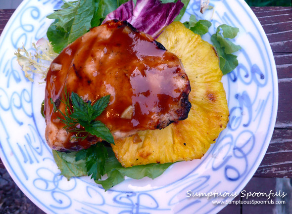 Grilled Honey Pineapple Teriyaki Chicken ~ Sumptuous Spoonfuls #chicken #recipe