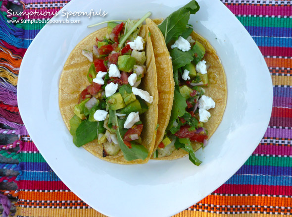 Pesto Grilled Fish Tacos with Avocado Pico de Gallo