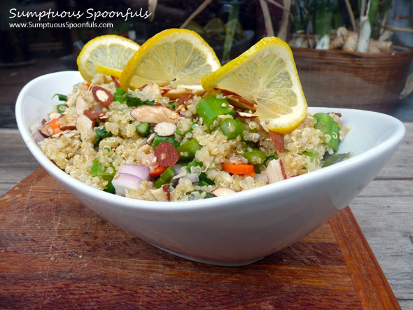 Lemon Asparagus Quinoa Salad with Fresh Rosemary