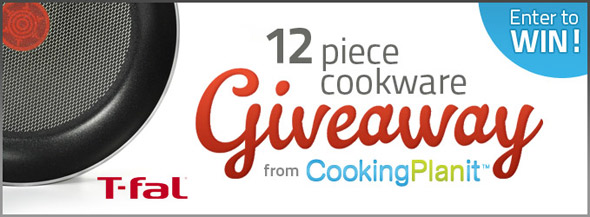 Cooking Planit Tfal Cookware Giveaway ~ Win one of FIFTY sets of cookware!