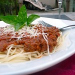 Wagyu Beef Bolognese Sauce ~ Sumptuous Spoonfuls #healthy #Italian #recipe