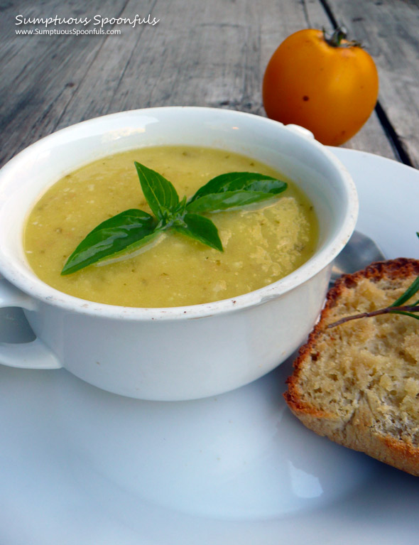 Sunshine Soup {Yellow Tomato Basil Soup}