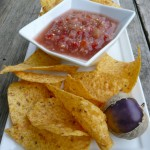 Purple Tomatillo Salsa Fresca ~ Sumptuous Spoonfuls #salsa #recipe