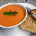 Tomato Basil Ricotta Soup ~ Sumptuous Spoonfuls #soup #recipe