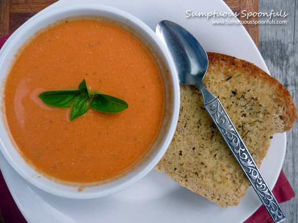 Tomato Basil Ricotta Soup Sumptuous Spoonfuls