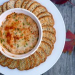 Hot Spanish Salmon Artichoke Dip ~ Sumptuous Spoonfuls #appetizer #recipe