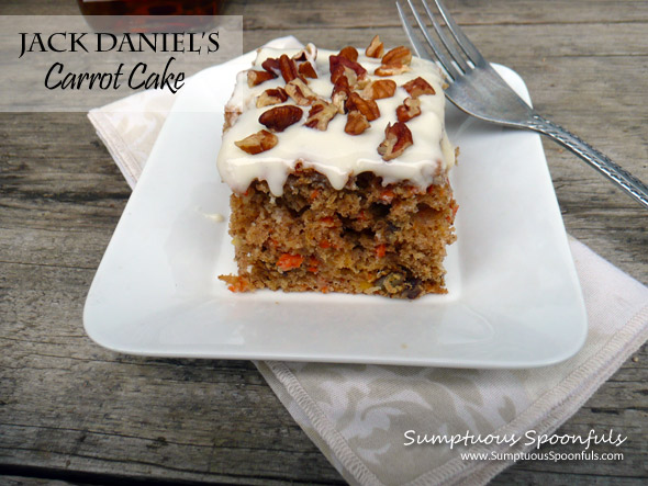 Jack Daniels Carrot Cake with Heavenly Frosting