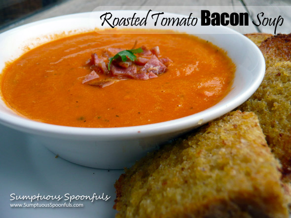 Roasted Tomato Bacon Soup