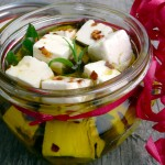 Rosemary Garlic Marinated Feta Cheese ~ the perfect #homemade #holiday #gift!