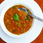 Velvet Spice Red Lentil Soup ~ Sumptuous Spoonfuls #soup #recipe