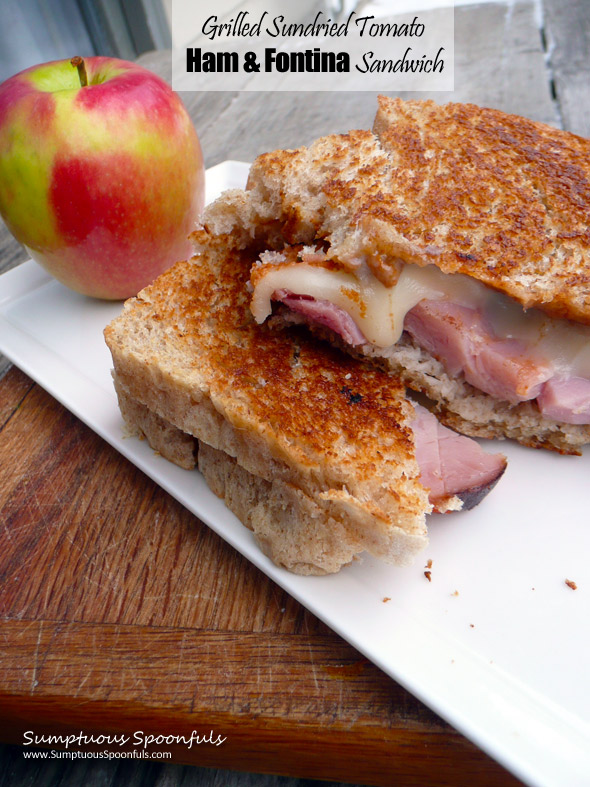 Grilled Sundried Tomato Ham & Fontina Cheese Sandwich ~ Sumptuous ...