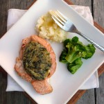 Pete's Seafood Club ~ Spinach & Feta Stuffed Salmon